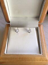 18ct. 750. White Gold, Sparkling Diamond Stud Earrings. 0.50ct. TCW