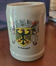 Germany Crest Made In Western Germany Stoneware Beer Stein Mug Tankard Marked