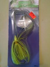 HAWG RETRIEVERS BUZZ BAIT 3/8oz silver blade, chart head, chartreuse skirt