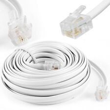 15m Meter RJ11 to RJ-11 ADSL Broadband Internet Router Modem DSL Phone Cable UK