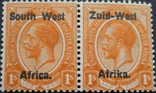 South West Africa 1923 GV One Shilling pair SG 7 mint