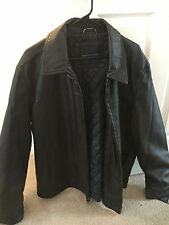 Tommy Hilfiger Dark Brown Leather Jacket New With Tags XXL