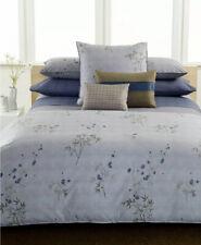 Calvin Klein Hyacinth Bamboo Flower Blue Rhythmic Stripe Queen Flat Sheet.