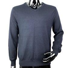 J Crew Mens Medium Blue Long Sleeve V-Neck Sweater