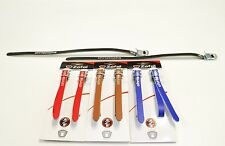 ZEFAL Christophe Leather Toe Clip Straps Retro look black brown blue red white