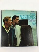 The Righteous Brothers Reel to Reel Go Ahead And Cry 4 Track Tape 3 3/4 IPS