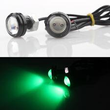 2Pcs COB High Power Eagle Eye Daytime Running DRL Tail/Head Lights Backup Green