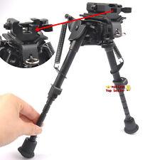 "Metal 6""-9"" Harris Style Bipod Sling Swivel Pivot+QD 20mm Rail adapter for Rifle"