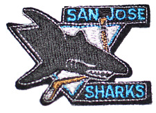 San Jose Sharks NHL Hockey 1990's Vintage Iron-on Embroidered Patch Logo Emblem