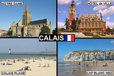 SOUVENIR FRIDGE MAGNET of CALAIS FRANCE