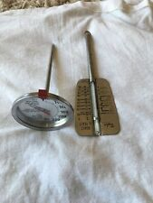 "Taylor Sybron Stainless Steel Meat & Yeast Thermometer 6 1/2"" VTG"