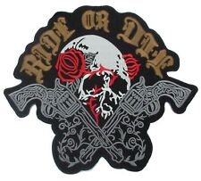 Backpatch Ride or die motard guns flingues écusson patche dorsal dos biker