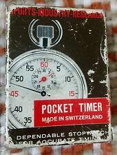 Rare LUCERNE Vintage Stop Watch 1/5 Swiss ORIGINAL POUCH & BOX NEAR MINT! Look!