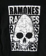 NEW NWT Ramones Alien Skull SS Babydoll Rockabilly Punk Rock Black Tee Shirt L