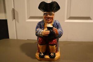 """RARE VINTAGE Shorter & Sons Staffordshire Old Staff Toby Mug Jug 11.5"""""""