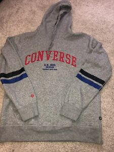 Converse Hoodie Size Eu Large Grey
