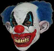 BRAND NEW Psycho Killer Klown ADULT LATEX PUDDLES THE CLOWN MASK W/ BLUE HAIR