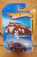 Hot Wheels 2010 NEW MODELS 4/44 VOLKSWAGEN BEETLE (METALFLAKE DARK RED) (A+/A)