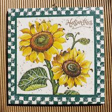 Dekofliese Geburtstag Danke Mitbringsel Geschenkidee Sonnenblumen (046)