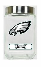 Philadelphia Eagles Jar Glass Canister Large Container With Lid Duckhouse NFL