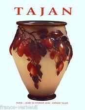 Auction Catalog Tajan French Art Deco Nouveau Galle Lalique 20th century Design