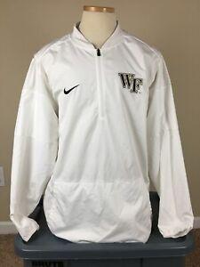 Nike Storm-Fit Wake Forest Demon Deacons 1/4 Zip Rain Wind Jacket Men's XL