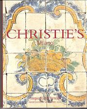 """CHRISTIE'S """" IMPORTANTI ARREDI """" asta Milano  2002  , 550 lotti"""