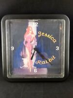 Vintage Clock Who Framed Roger Rabbit JESSICA RABBIT Hand Made Plastic