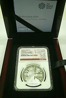 """2020 Great Britain £2 BRITANNIA SILVER PROOF  NGC PF70 UC """"One of the First 100"""""""