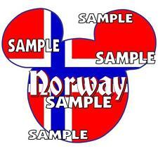 Disney Epcot Norway Mickey Ears Scrapbook Paper Die Cut Embellishment Piece