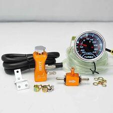 """BOOST CONTROLLER ADJUSTABLE 30PSI ORANGE + 2"""" DIGITAL LED -30/35PSI BOOST GAUGE"""