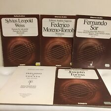 Lot Of Vintage Classical Guitar Music Spanish Masters Etc. Schott Publications