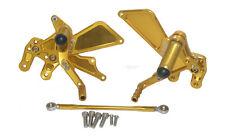Adjustable Rearsets Rear Set Foot Rest Peg Gold Fit 2007-2008 SUZUKI GSXR 1000