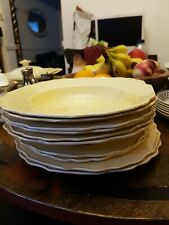 French Style Yellow Vintage Dinner Service Set Plates Bowls Dishes classy