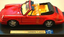 Rare Porsche 911 C4 Cabriolet Red Anson Special Edition Bright Clean 1:18 Straps