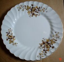 Myotts Of Staffordshire Fine White Ironstone Dinner Plate Brown Leaves And Pears