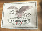 Vintage Eagle Hook Rug E Pluribus Unum - Out of Many - One USA Motto