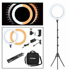 "ZOMEI 14"" LED Ring Light Dimmable Lighting with Stand/&color filter for Facebook"
