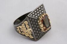 Turkish Ottoman 925 Sterling Silver Zultanite Topaz Stone Mens Ring Size 9