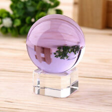 Hot Unisex Natural Quartz Purple Magic Crystal Healing Ball Sphere 40mm + Stand#