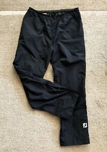 FootJoy Golf HydroLite Waterproof Rain Pants Black Large DryJoys L