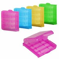 5~10X Precision Plastic Translucent Case Holder Storage Box AA AAA Battery&& ti