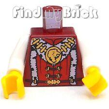 B058a Lego Torso Kingdoms Lion King Medallion Fur Trim - Dark Red 7946 7952 -new