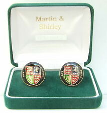 BRITISH  £1 Cufflinks made from real Coins Gold Plt