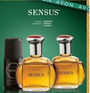 3Pc Set Avon SENSUS Eau de Toilette Spray for Men & Roll-On Deodorant