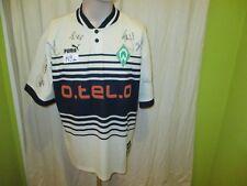 """Werder Bremen Puma Auswärts Trikot 1997/98 """"o.tel.o"""" + Handsigniert Gr.XL TOP"""