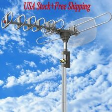 1080p HDTV Outdoor Amplified Antenna 360 Rotor Digital HD TV UHF VHF FM 150 Mile