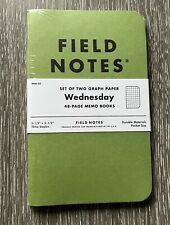 Field Notes Green Wednesday Sealed New Set Of 2 Graph Paper Notebooks Memo Book