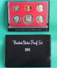 1981 United States Mint Annual 6 Coin Proof Set with Original Box as Issued