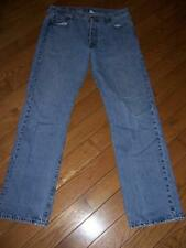 LEVI'S 501 BUTTON FLY STRAIGHT LEG DENIM JEANS W 36 L 34 LIGHT INDIGO BLUE